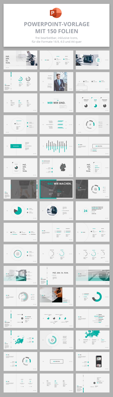 PowerPoint Präsentationsvorlage Air, Vorschau auf die 150 Folien