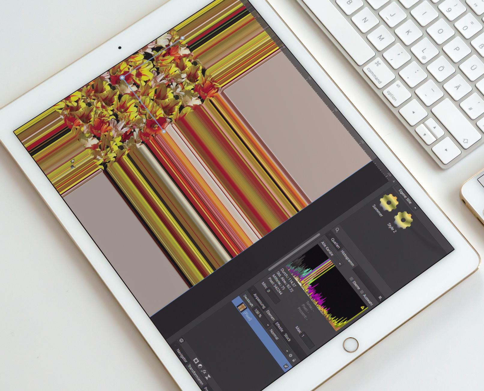 Live Filter in Affinity Photo: Lerne die Persona, also die Arbeitsbereiche kennen und steige dann direkt in die Anwendung ein.