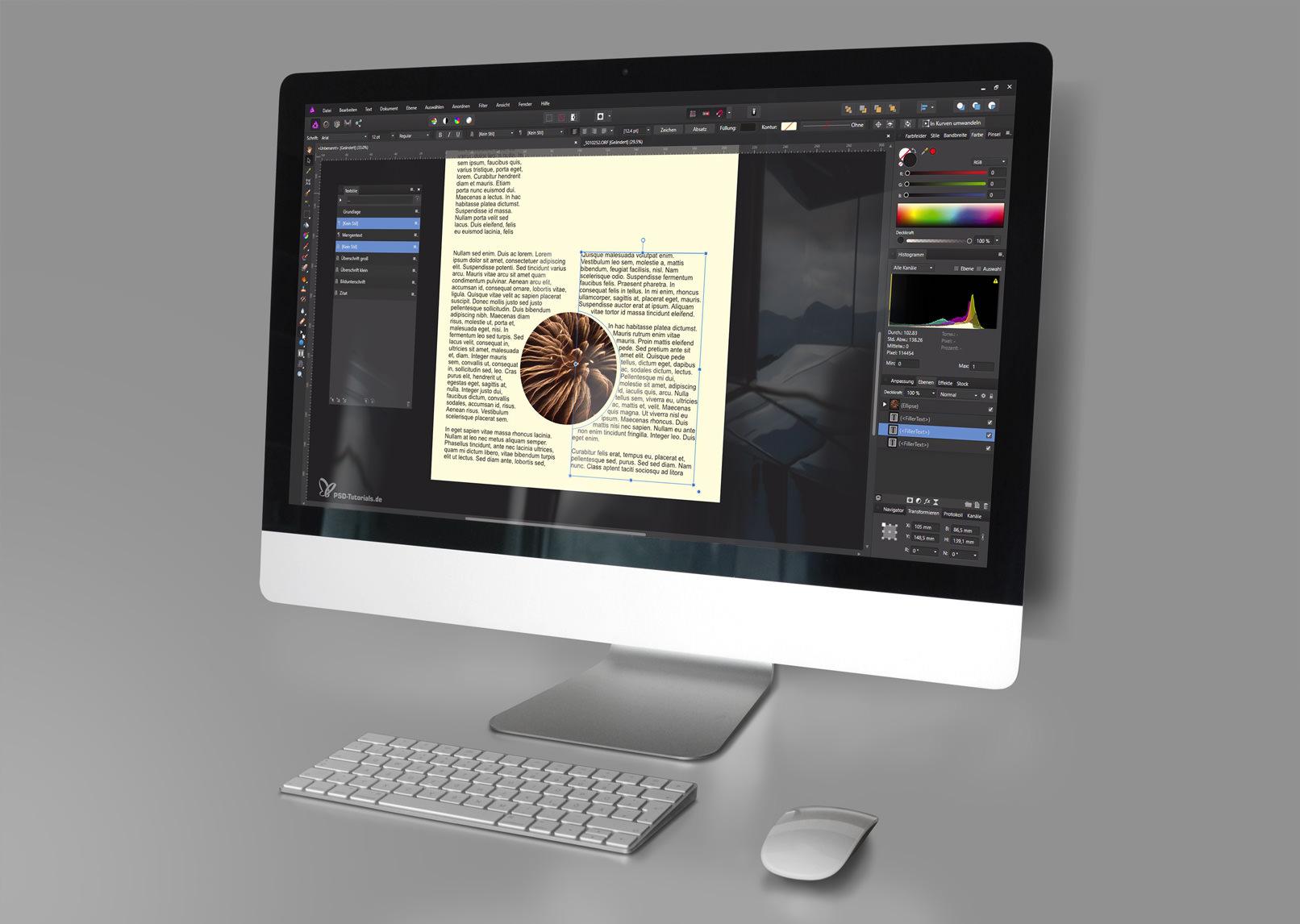 Affinity Photo bietet dir auch zahlreiche Möglichkeiten zur Textbearbeitung – lerne sie mit diesen Tutorials kennen!