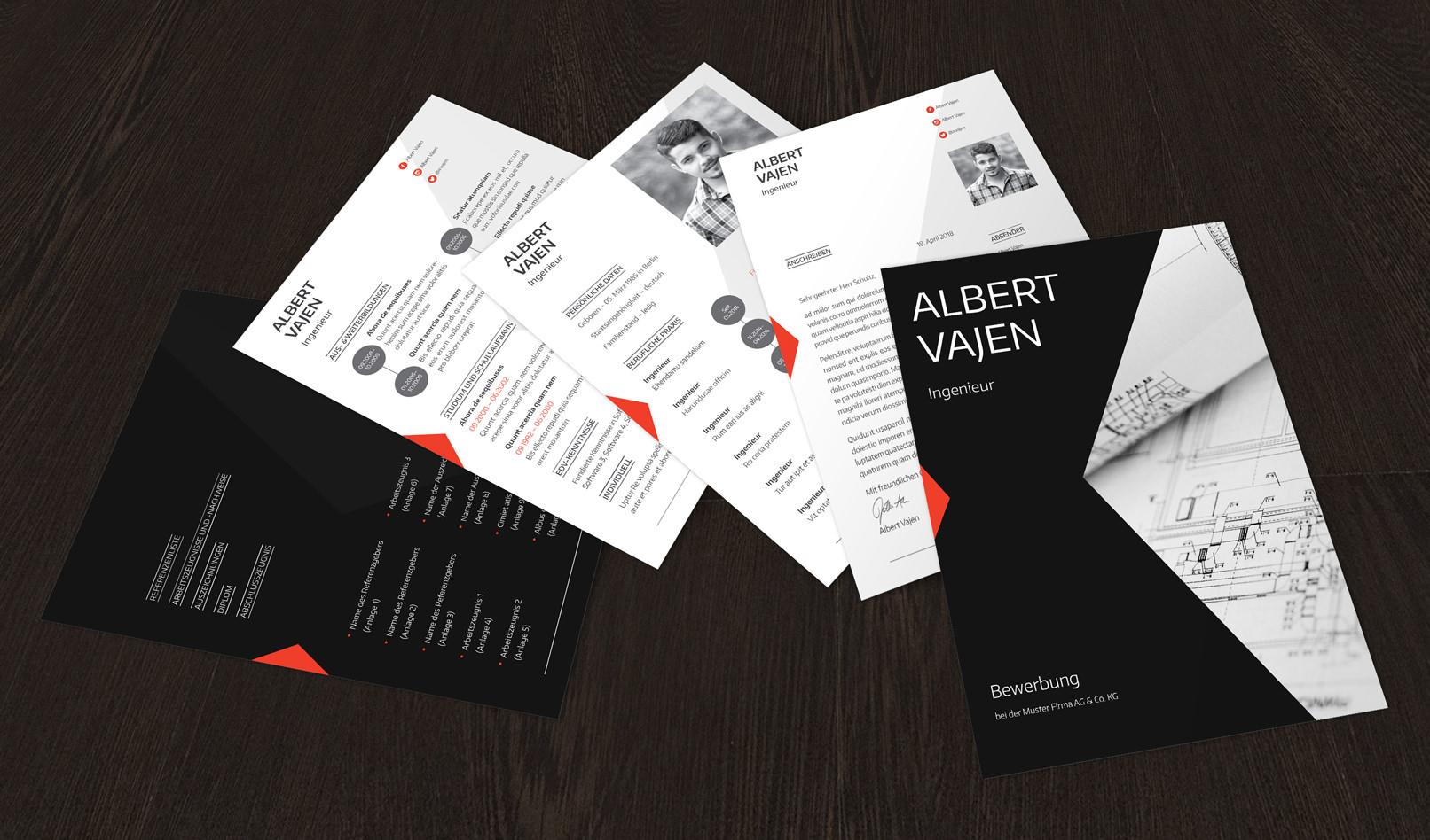 Bewerbungsvorlagen für Architekten und Ingenieure