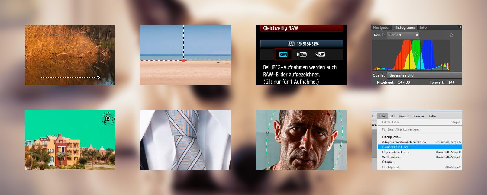 Beispielszenen aus dem Tutorial Fotoentwicklung mit Camera Raw – Tutorial zur Raw-Bearbeitung
