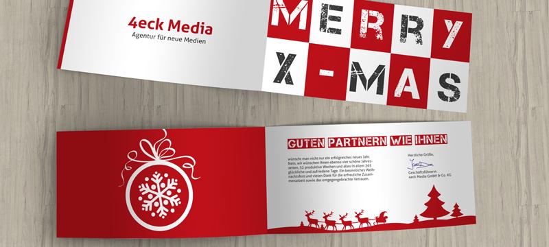 Erstelle Weihnachtskarten für Unternehmen