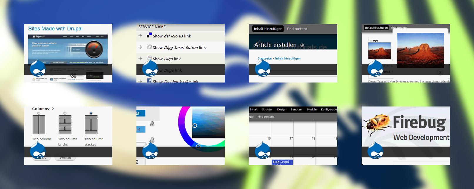 Auszüge aus dem Video-Tutorial zum CMS Drupal