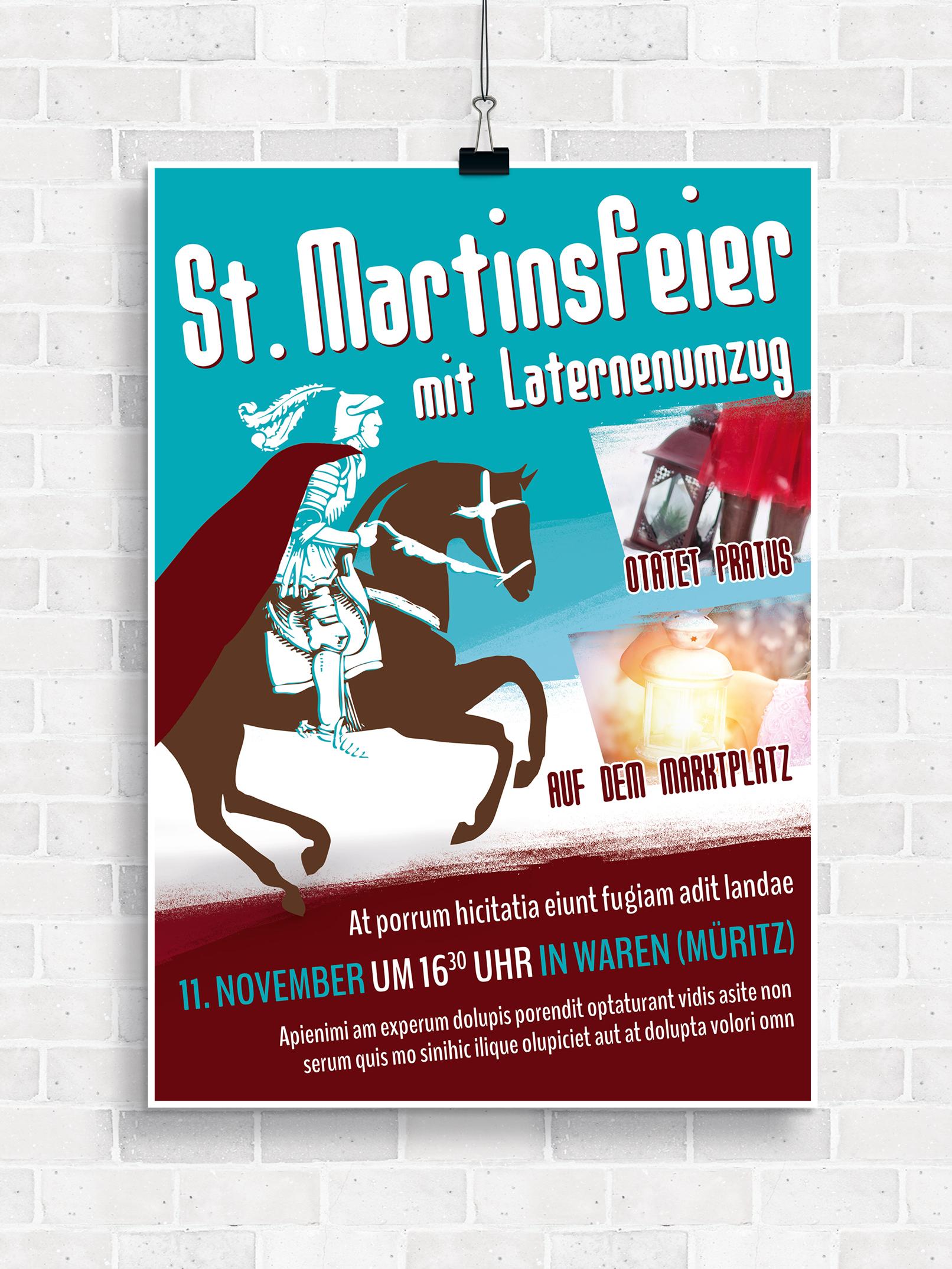 Poster, Flyer und Plakate fuer Cocktail- und Kostümpartys