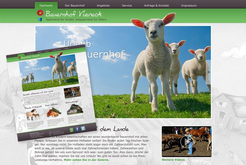 Weblayout Bauernhof
