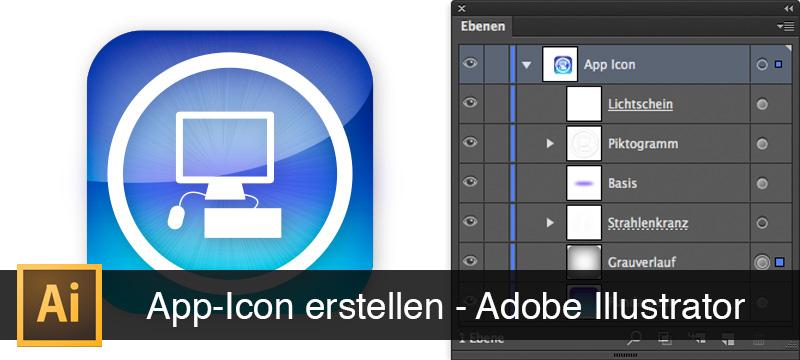 Beispielbild aus der Einführung in Adobe Illustrator, Grundlagen lernen: App-Icon