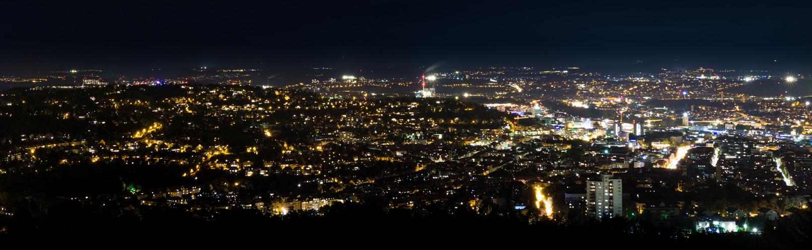 Panaroma einer Stadt bei Nacht – im Training wird gezeigt, worauf bei der Erstellung von Panoramen zu achten ist.