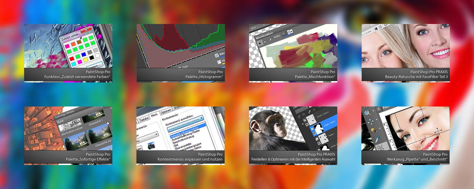 Auszüge aus dem Video-Training zu Corel PaintShop Pro