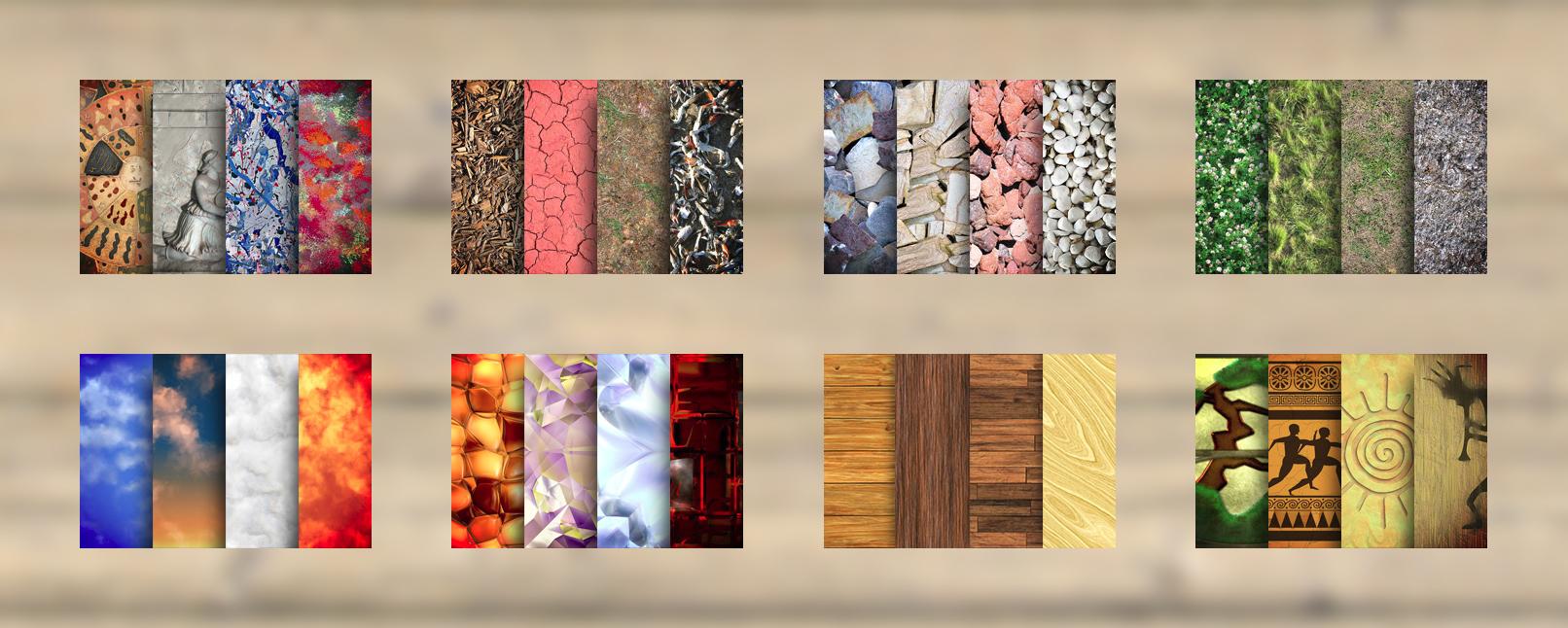 Texturen für Photoshop und Co, inklusive Rasen- und Beton-Textur