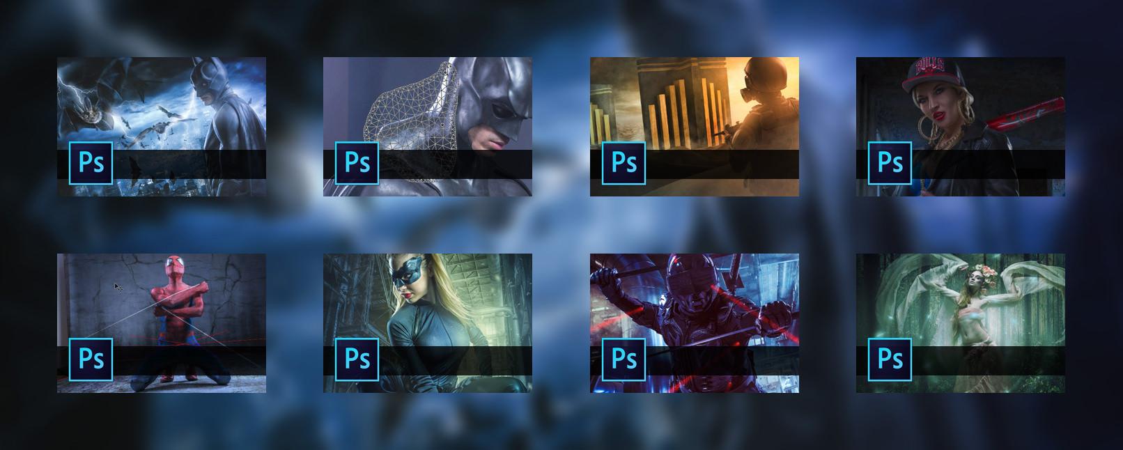 Erlebe das Superhelden Bildcomposing in Schritt-für-Schritt-Anleitungen für Photoshop und blicke abschließend stolz auf dein eigenes Batman Artwork!
