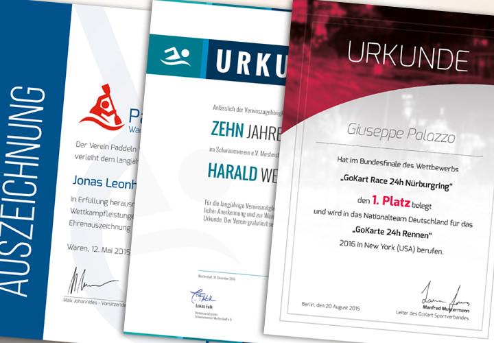 Großes Urkunden- und Zertifikatepaket