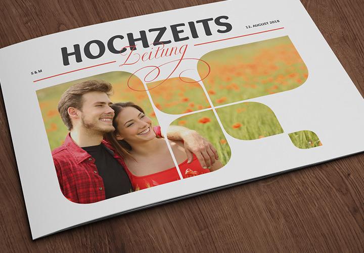 Hochzeitszeitung: Vorlagen für PowerPoint & InDesign