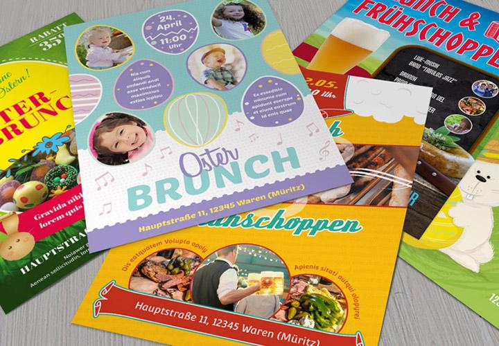 Vorlagen zu Ostern: Osterbrunch Flyer & Plakate