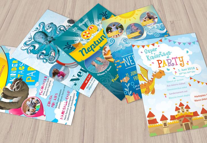 Flyer-Vorlagen zum Neptunfest und Kindertag