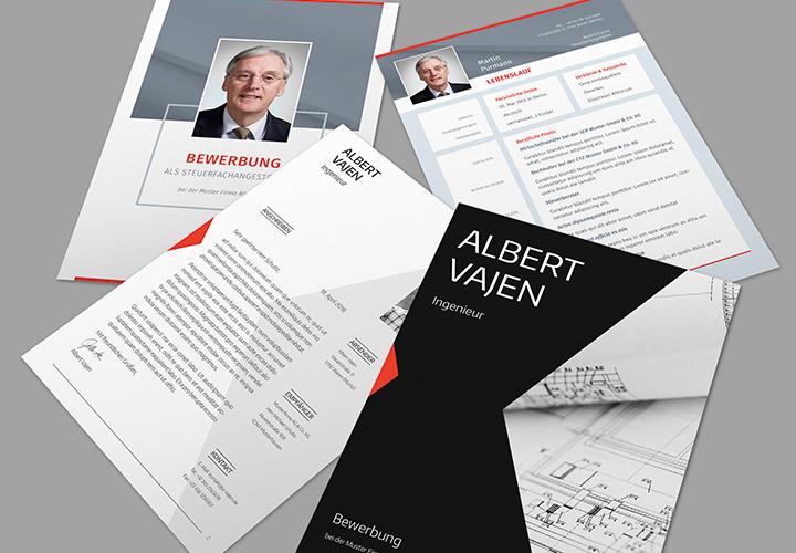 Professionelle Bewerbungsvorlagen mit Deckblatt, Anschreiben und Lebenslauf - Vol. 2