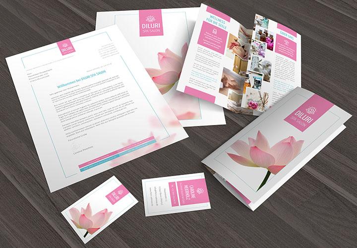 Vorlagen zur Werbung für Friseure & Wellness: Visitenkarten, Flyer & Designs