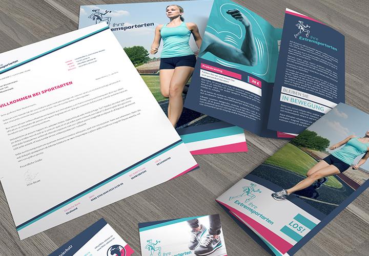Vorlagen für Sport und Fitnessstudio: Flyer, Visitenkarten, PowerPoint