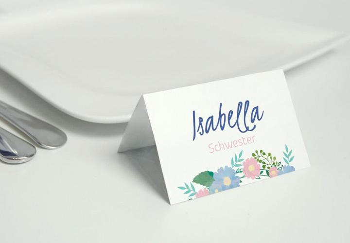 Tischkarten-Vorlagen Hochzeit