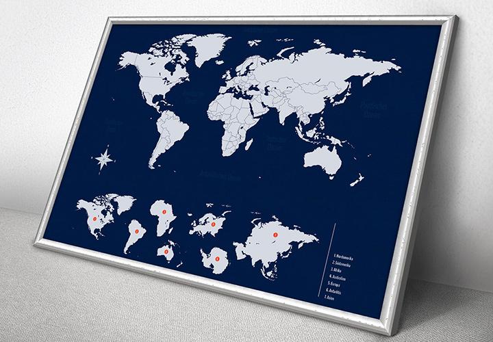Landkarten: Welt, Europa, Deutschland, Österreich, Schweiz