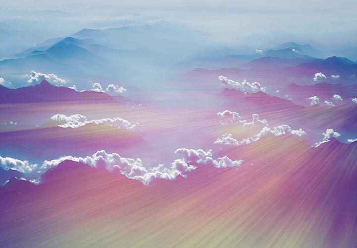 Pastell-Lightbeams und -Muster für Hintergrund und Bildeffekt
