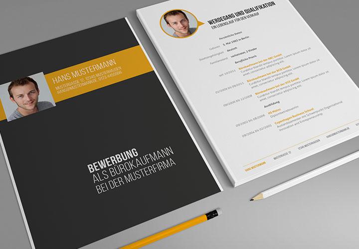 Bewerbung als Bürokauffrau, Bürokaufmann – Design-Muster
