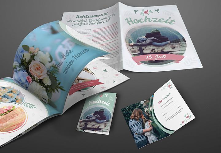 Design-Paket für die perfekte Hochzeit: illustrativ & romantisch