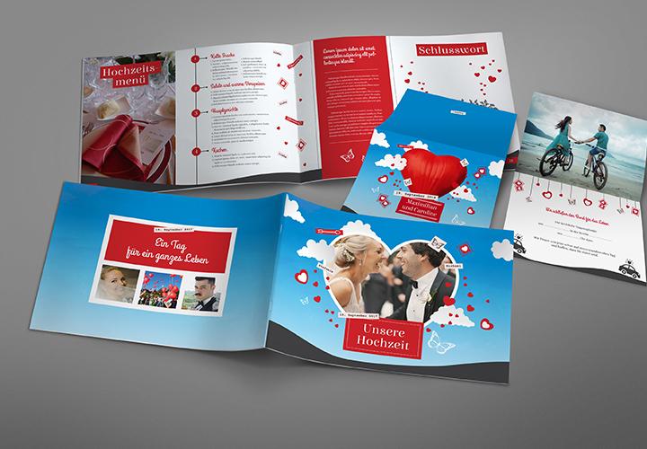 Design-Paket für die perfekte Hochzeit: himmelblau & schwerelos