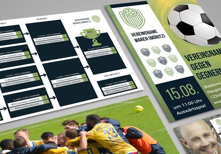 Design-Vorlagen für euren Sportverein – Komplettausstattung Vol. 1