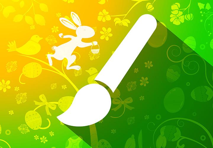 Frühlingsmotive, Osterhasen, Ostereier – 70 Pinsel für Photoshop & Co