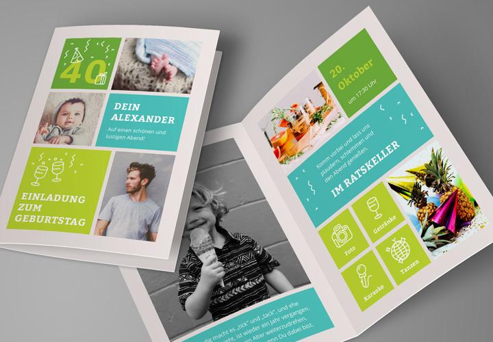 Vorlagen für Geburtstagseinladungen: Einladungskarten selbst gestalten