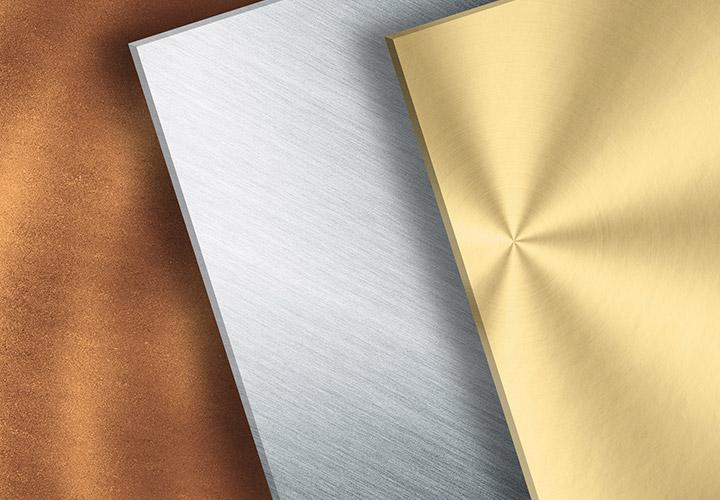 Glanzvolle Metall-Texturen: Gold, Silber und Bronze