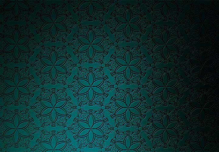 Türkise Hintergrundbilder mit feinster Ornamentik