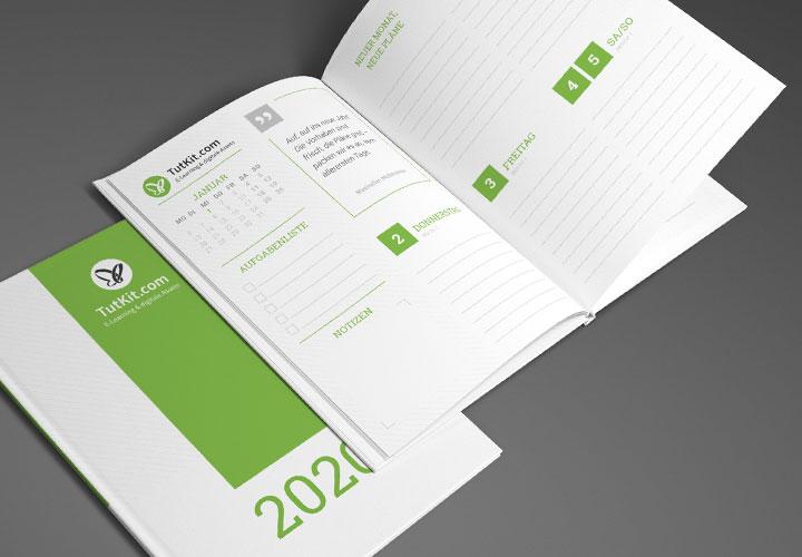 Personalisierte Business-Kalender für 2019/2020 bis 2023