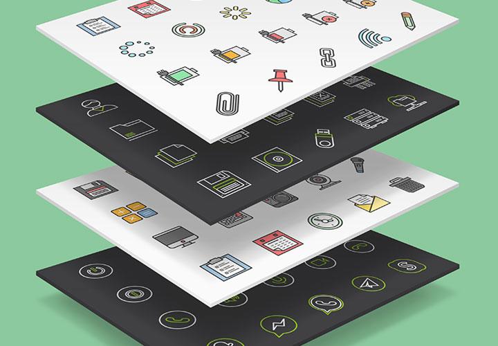 100 Interface-Icons für Webseiten und Apps