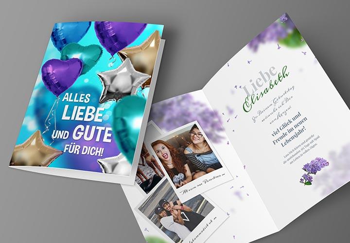 Vorlagen für Geburtstagskarten – selbst gestalten und ausdrucken