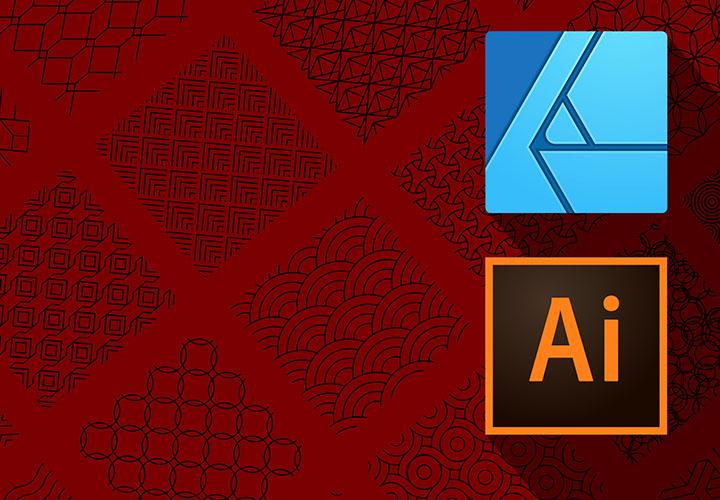 Geometrische Muster als Vektoren für Illustrator und Affinity Designer