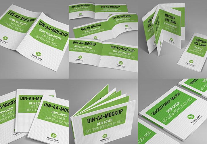 100 Mockups für deine Broschüren-Designs: das Sparpaket!