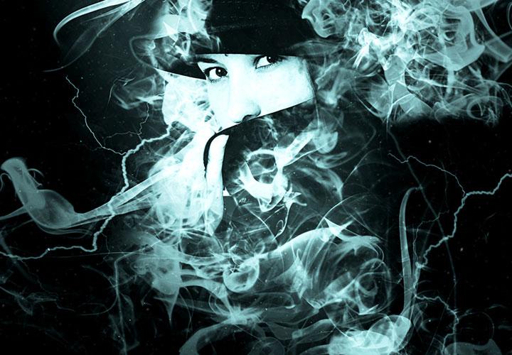 """Photoshop-Aktion """"Rauch und Blitze"""""""