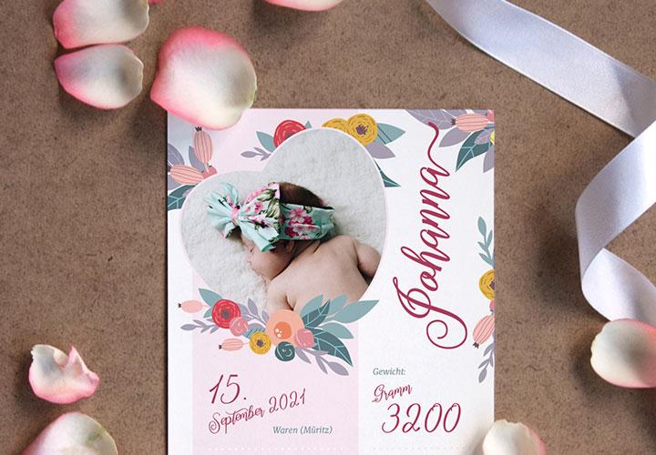 Kreative Geburtskarten für Babys gestalten