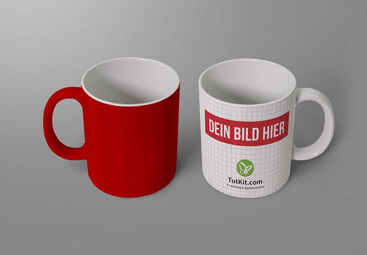 Photoshop-Mockups für Tassen