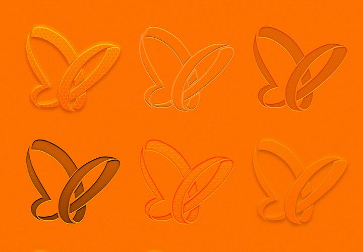 Adobe Illustrator: Transparenz, Relief und Prägung für Texte und Grafiken