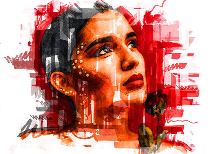 """Photoshop-Aktion """"Marker Sketch"""": deine Fotos als farbenfrohe Zeichnungen"""