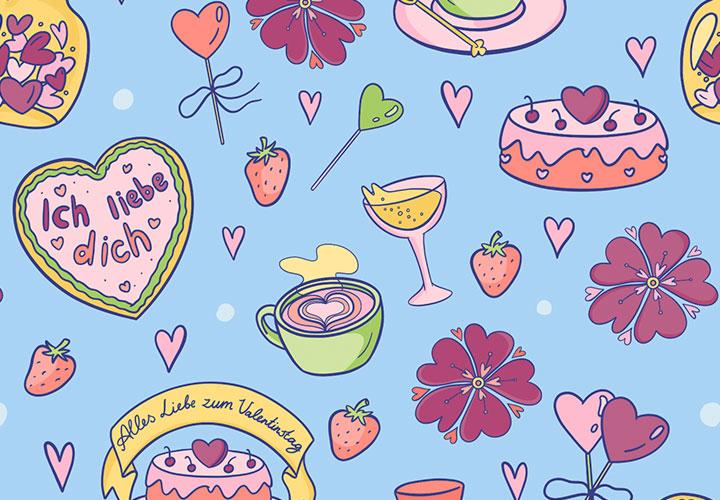 Liebevolle Hintergründe für den Valentinstag und all deine Herzbotschaften