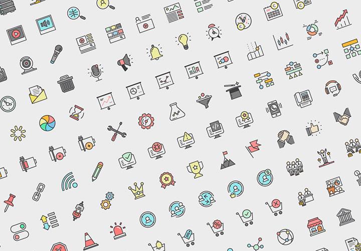 Das große Icon-Set: über 300 Grafiken zum Download (Sparpaket)