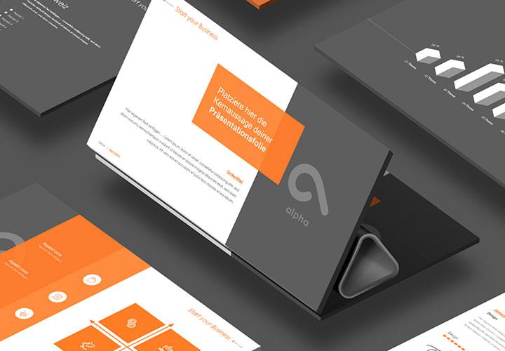 """PowerPoint-Templates für Business-Präsentationen: """"Alpha"""""""