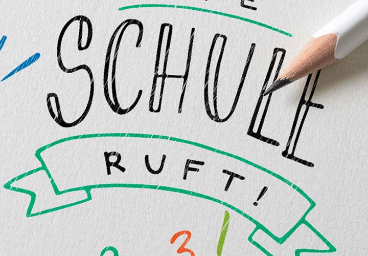 Handlettering Einschulung: handgeschriebene Sprüche für Glückwünsche zum Schulanfang