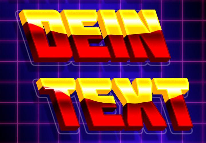 Retro & Neon in Photoshop: 3D-Effekte für Texte und Grafiken