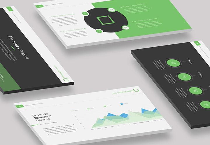 """Microsoft PowerPoint-Vorlagen """"Square"""": stilsichere Templates für treffsichere Präsentationen"""