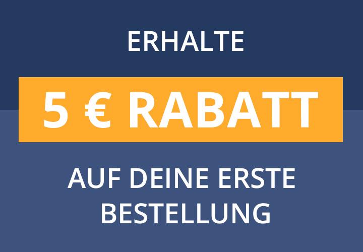 5 EUR Gutschein auf deine erste Bestellung