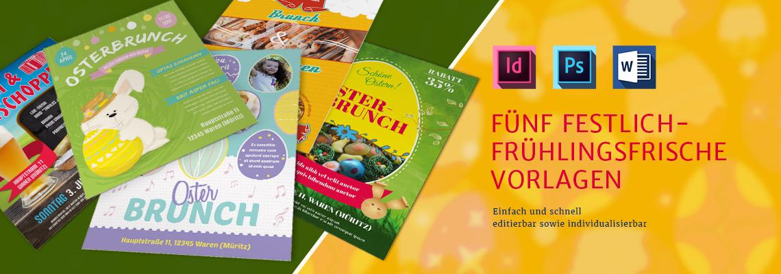 Flyer-Vorlagen für Osterbrunch und Frühschoppen
